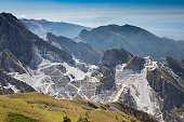 View of the quarries of Carrara