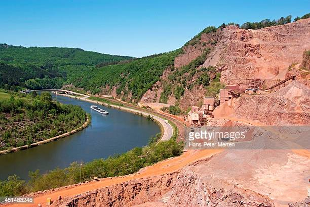 quarry at Saar Valley, Germany