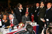Quarterback Alex Smith sits at a table during the 70th NFL Draft on April 23 2005 at the Jacob K Javits Convention Center in New York City Smith was...