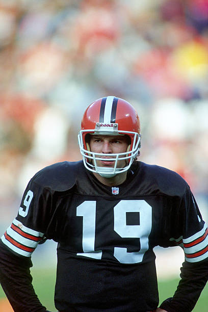 Quarterback Bernie Kosar 19 Of The Cleveland Browns Looks On From Field During