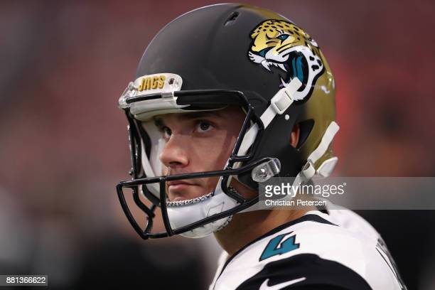 Quarterback Blake Bortles of the Jacksonville Jaguars during the first half of the NFL game against the Arizona Cardinals at the University of...