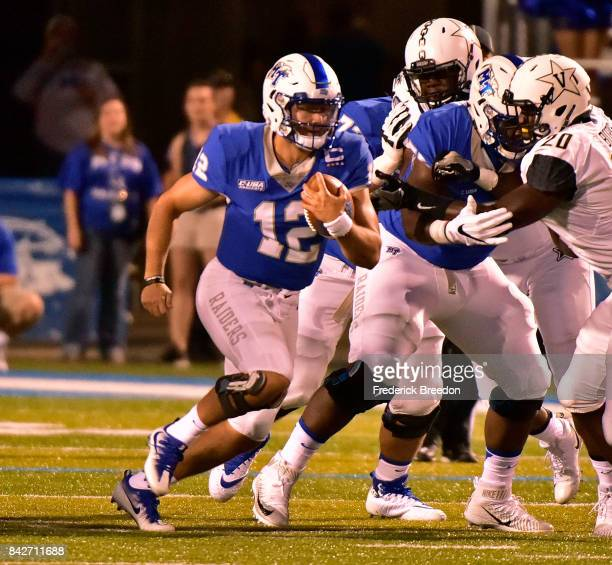 Quarterback Brent Stockstill of the Middle Tennessee State University Blue Raiders plays during a 286 loss to the Vanderbilt Commodores at Floyd...
