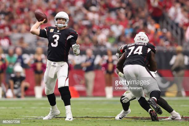 Quarterback Carson Palmer of the Arizona Cardinals thorws a pass during the first half of the NFL game against the Tampa Bay Buccaneers at the...
