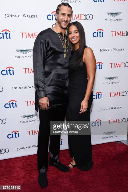 NFL quarterback Colin Kaepernick and Nessa attend 2017 Time 100 Gala at Frederick P Rose Hall Jazz at Lincoln Center on April 25 2017 in New York City