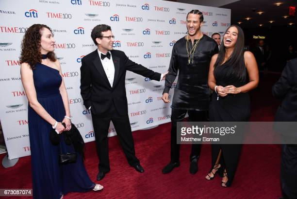 NFL quarterback Colin Kaepernick and Nessa attend 2017 Time 100 Gala at Jazzat Frederick P Rose Hall Jazz at Lincoln Center on April 25 2017 in New...