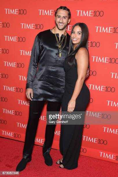 NFL quarterback Colin Kaepernick and Nessa attend the Time 100 Gala at Frederick P Rose Hall Jazz at Lincoln Center on April 25 2017 in New York City