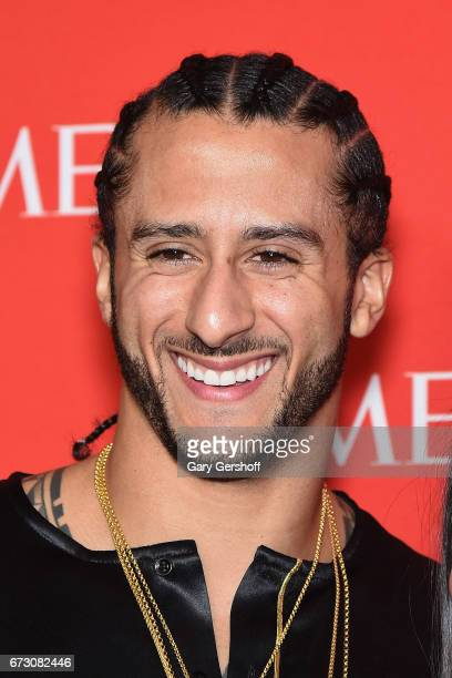 NFL quarterback Colin Kaepernick attends the Time 100 Gala at Rose Hall Jazz at Lincoln Center on April 25 2017 in New York City