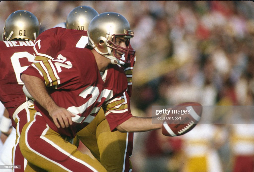 Quarterback Doug Flutie of Boston College Eagles turns to hand the ball off against Penn State Nittany Lions during an NCAA College football game...