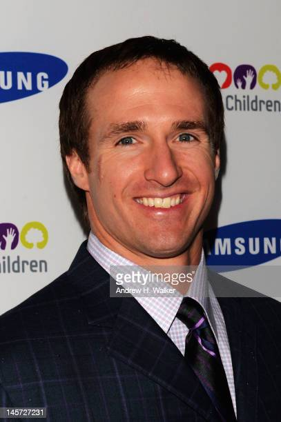 Quarterback Drew Brees attends the Samsung's Annual Hope for Children gala at the American Museum of Natural History on June 4 2012 in New York City