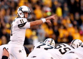 Quarterback Jordan Rodgers of the Vanderbilt Commodores in action during the game against the Missouri Tigers on October 6 2012 in Columbia Missouri