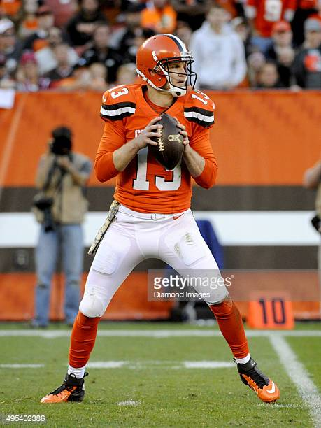 Quarterback Josh McCown of the Cleveland Browns drops back to pass during a game against the Arizona Cardinals on November 1 2015 at FirstEnergy...