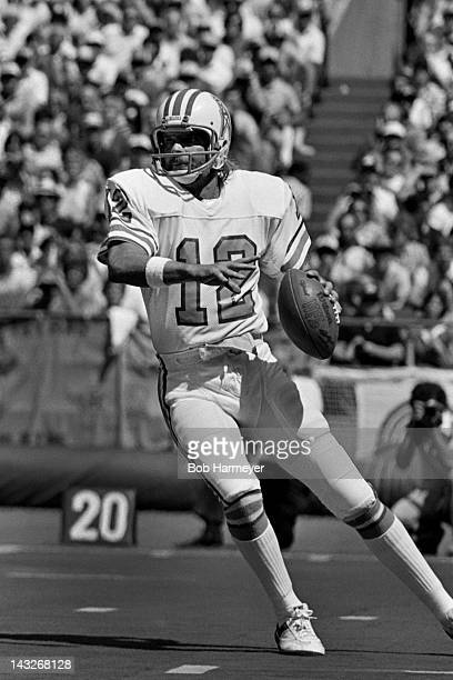 Quarterback Ken Stabler of the Houston Oilers prepares to throw a pass against the Pittsburgh Steelers on September 7 at Three Rivers Stadium in...