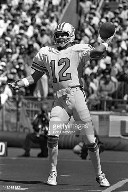 Quarterback Ken Stabler of the Houston Oilers throws a pass against the Pittsburgh Steelers on September 7 at Three Rivers Stadium in Pittsburgh...