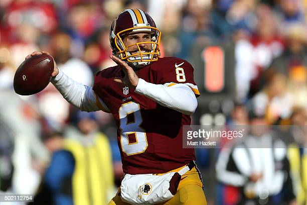 Quarterback Kirk Cousins of the Washington Redskins passes the ball against the Buffalo Bills in the first quarter at FedExField on December 20 2015...