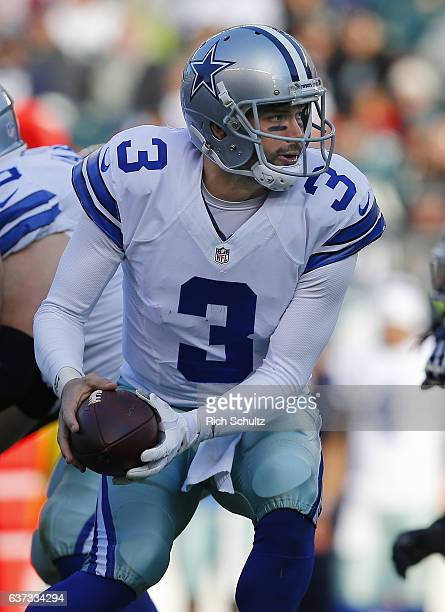 Quarterback Mark Sanchez of the Dallas Cowboys attempts a pass against the Philadelphia Eagles during the second quarter of a game at Lincoln...