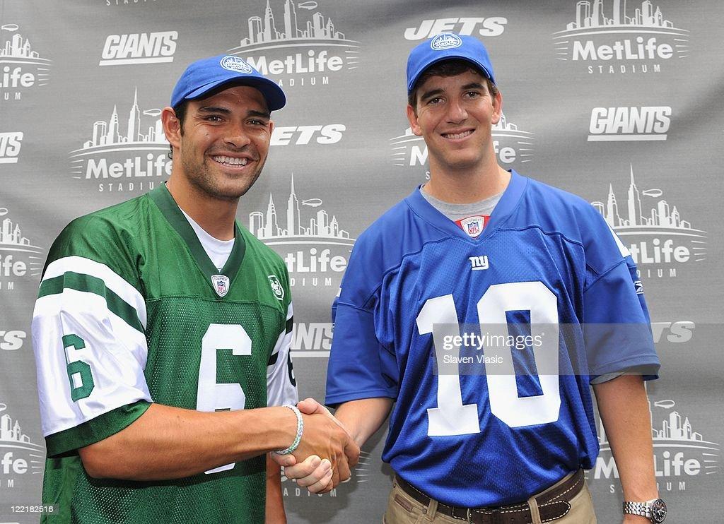 Jets & Giants Team Members Celebrate MetLife Stadium