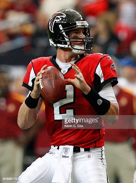 Quarterback Matt Ryan of the Atlanta Falcons against the Washington Redskins at Georgia Dome on November 8 2009 in Atlanta Georgia