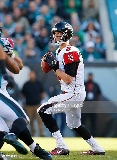 Quarterback Matt Ryan of the Atlanta Falcons in action against the Philadelphia Eagles during a game at Lincoln Financial Field on November 13 2016...