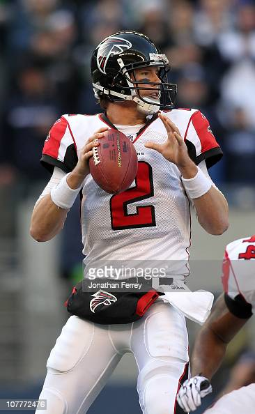 Quarterback Matt Ryan of the Atlanta Falcons throws a pass against the Seattle Seahawks on December 19 2010 at Qwest Field in Seattle Washington