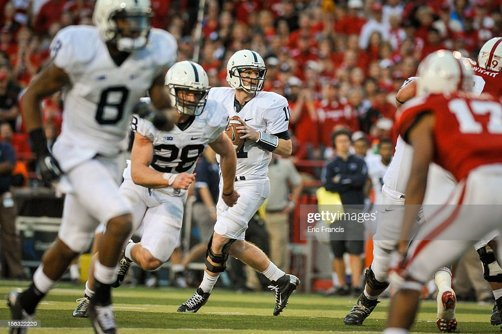 Quarterback Matthew McGloin #11 of the Penn State Nittany Lions looks to pass against the Nebraska Cornhuskers defense during their game at Memorial Stadium on November 10, 2012 in Lincoln, Nebraska. Nebraska beat Penn State 32-23.
