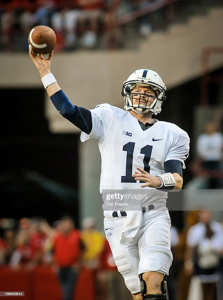 Quarterback Matthew McGloin #11 of the Penn State Nittany Lions throw a pass over the Nebraska Cornhuskers defense during their game at Memorial Stadium on November 10, 2012 in Lincoln, Nebraska.