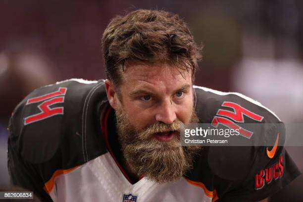 Quarterback Ryan Fitzpatrick of the Tampa Bay Buccaneers on the sidelines during the first half of the NFL game against the Arizona Cardinals at the...