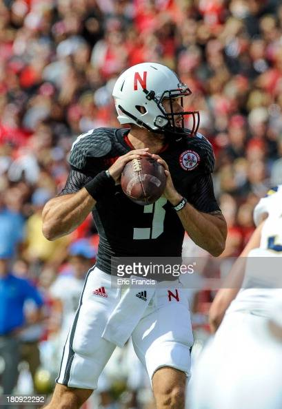 Quarterback Taylor Martinez of the Nebraska Cornhuskers during their game against the UCLA Bruins at Memorial Stadium on September 14 2013 in Lincoln...