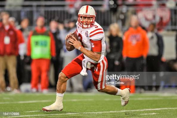 Quarterback Taylor Martinez of the Nebraska Cornhuskers runs with the ball against the Ohio State Buckeyes at Ohio Stadium on October 6 2012 in...