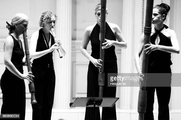 Quartet New Generation performing at Weill Recital Hall on Tuesday night September 14 2004 From left Heide Schwarz Andrea Guttmann Hannah Pape and...