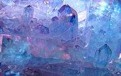 Krasivye, blue crystals of quartz, the background image.
