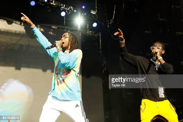 Quavo and Offset of Migos performs onstage during Day 1 of The Meadows Music Arts Festival at Citi Field on September 15 2017 in New York City