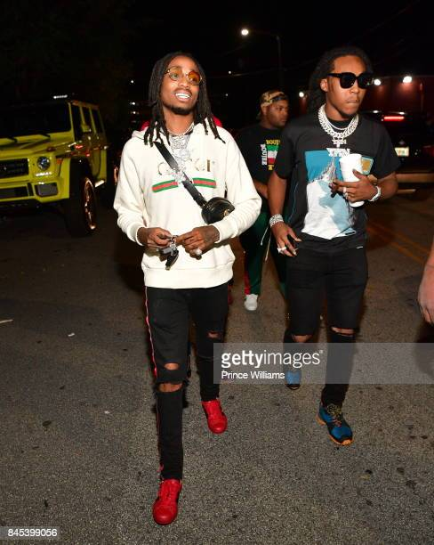 Quavo and Takeoff of The Group Migos attend a Party at Compound on September 10 2017 in Atlanta Georgia