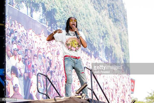 Quavo of Migos performs during Lollapalooza 2017 at Grant Park on August 3 2017 in Chicago Illinois