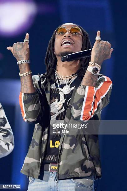 Quavo of Migos performs onstage during the 2017 iHeartRadio Music Festival at TMobile Arena on September 23 2017 in Las Vegas Nevada