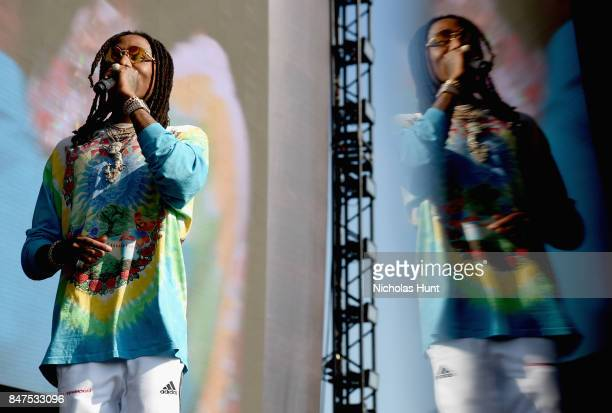Quavo of Migos performs onstage during the Meadows Music And Arts Festival Day 1 at Citi Field on September 15 2017 in New York City