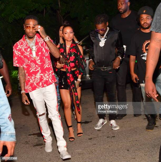 Quavo of the Group Migos and Karrueche Tran attend The Birthday Bash after party at Compound on June 18 2017 in Atlanta Georgia