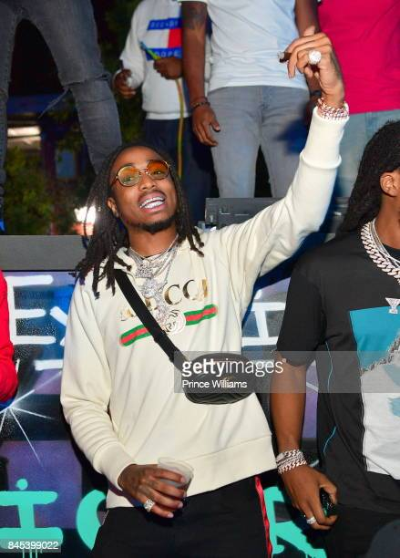 Quavo of the Group Migos attends a party at Compound on September 10 2017 in Atlanta Georgia