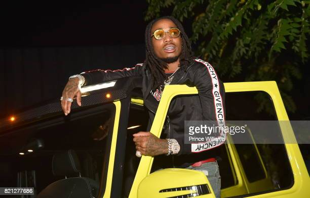 Quavo of The Group Migos attends Meek Mill Album Release Party at Compound on July 23 2017 in Atlanta Georgia