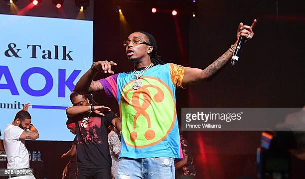 Quavo of the Group Migos Performs at the 13th annual Bike Show at Georgia World Congress Center on July 16 2016 in Atlanta Georgia