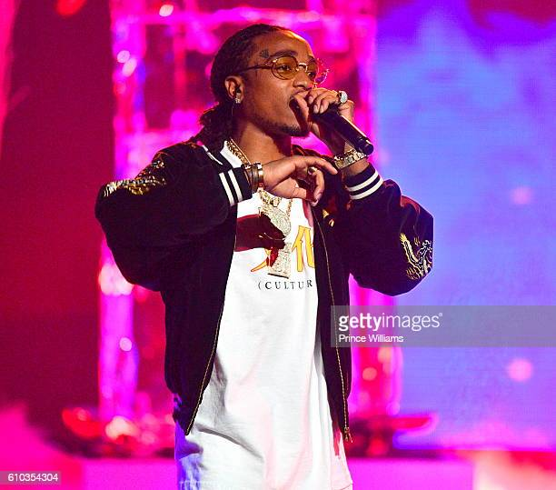 Quavo of the Group Migos performs at the BET Hip Hop Awards 2016 at Cobb Energy Performing Arts Center on September 17 2016 in Atlanta Georgia