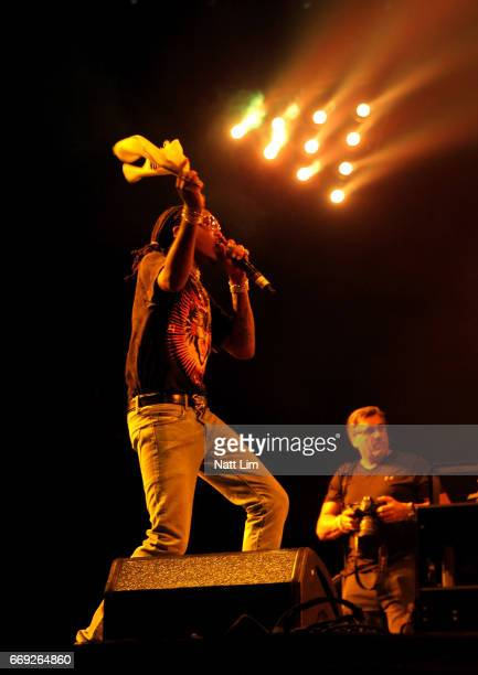 Quavo performs in the Sahara Tent during day 3 of the Coachella Valley Music And Arts Festival at the Empire Polo Club on April 16 2017 in Indio...