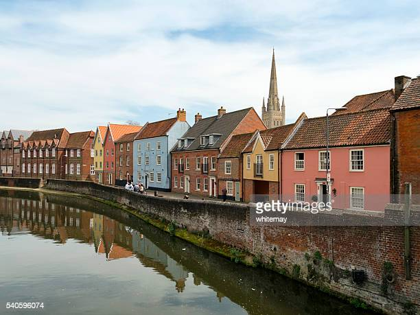 Quayside and River Wensum from Fye Bridge, Norwich