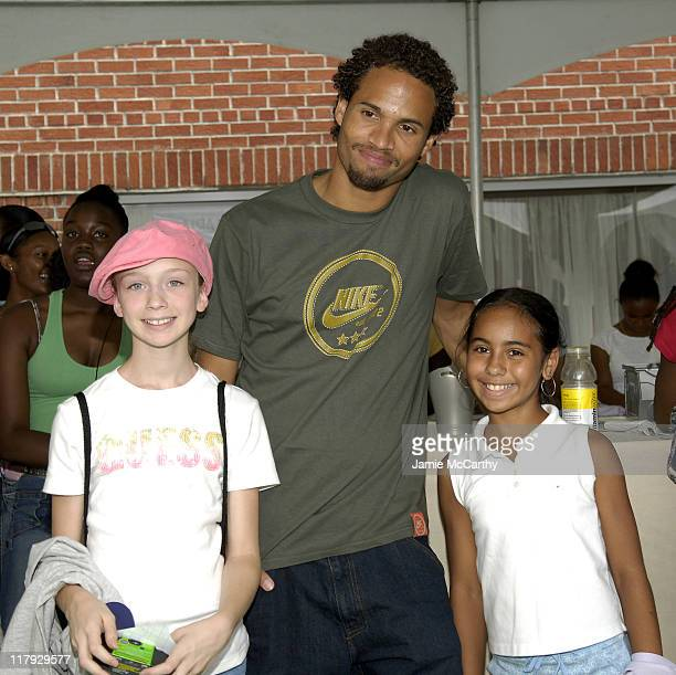 Quddus with fans during Maria Sharapova and Nike Ask 'What's on The Line' An Interactive Event With Teen Girls at Town Tennis Club in New York City...