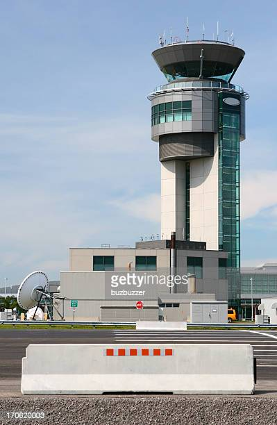 Quebec City airport traffic controller tower