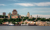 Quebec city skyline view from Levis