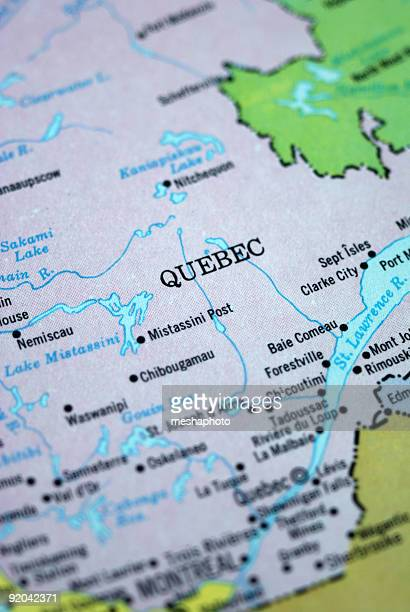 Map Of Quebec Province Stock Photos And Pictures Getty Images - Map of quebec