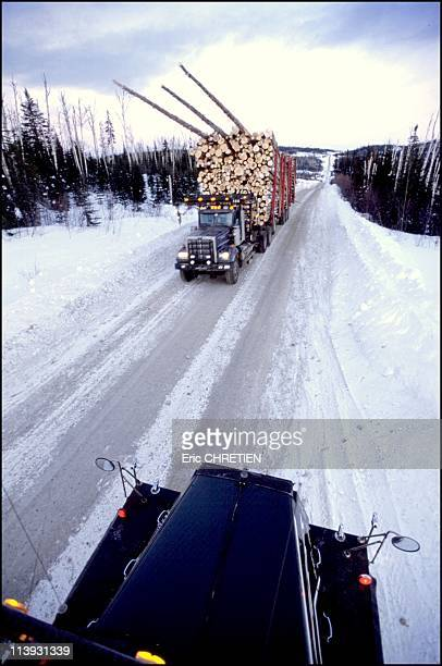 Quebec the 'iced' truckers of Saguenay In Quebec Canada In December 2000This trail was not originally meant to accommodate such big rigs Collisions...