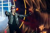 Queen Adam Lambert close on the second day of Rock in Rio Lisboa on the World Stage at Bela Vista Park in Lisbon Portugal 20th May 2016