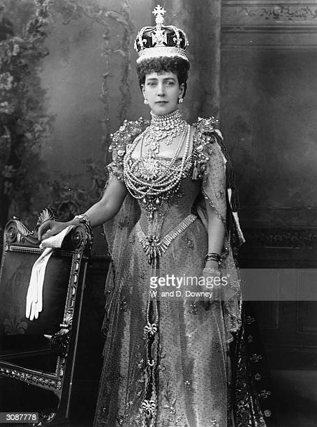 Queen Alexandra consort of King Edward VII on the day of her husband's coronation