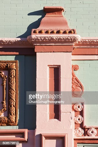 Queen Anne Architectural Facade Detail : Stock Photo